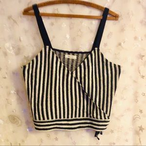 💙 Madewell Finale Crop Tank in Stripe Size Large